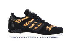Stoere adidas Originals Zx700 w Zwart Sneakers van het merk adidas Originals voor Dames . Uitgevoerd in Zwart gemaakt van .