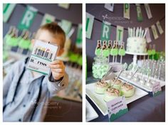 Mad Science Birthday Party Dessert Table | Spaceships And Laser Beams