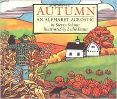 """Describes the autumn season. When read vertically, the first letters of the lines of text spell related words arranged alphabetically, from """"acorn"""" to """"zero."""" (Grades: Prek-3) Call number: QB 637.7 .S36 1997"""