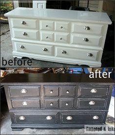 Black Distressed Dresser On Pinterest | Grey Distressed Furniture .