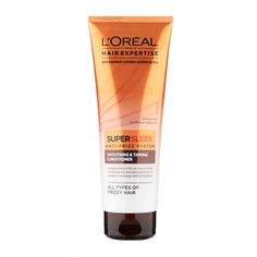 L'Oréal Paris Hair Expertise SuperSleek Anti-Frizz System Smoothing & Taming Conditioner - Modern Monet Hair Products, Beauty Products, Loreal Hair, Frizz Control, Frizzy Hair, L'oréal Paris, Hair Care, Conditioner, Smooth