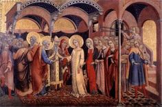 Sano di Pietro - Sposalizio della Vergine - 1448-1452 - Tempera su tavola - Pinacoteca Vaticana, Città del Vaticano