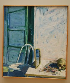 Mirror, Skull,and Chair by Paul Wonner