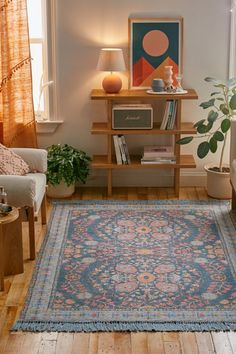 Ronan Printed Rug Flatwoven rug that blends utility with an ornate, kaleidoscopic vintage-inspired screen print. Central design features a bordered edge and fringed trim. Decor, Room Inspiration, Printed Rugs, Interior Design, Home Decor, House Interior, Room Decor, Apartment Decor, Home Deco