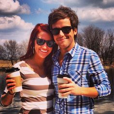 """""""Having a """"good"""" Friday with my girl... (see what I did there?)"""" - Caleb. Awwhh! Look how cute they are with their coffee and everything! How sweet! :D"""