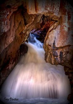 Inge Vautrin took this spectacular photo of one of New Mexico's most vivacious waterfalls, the waterfall at Soda Dam on Jemez Creek. This waterfall simply takes over and works the camera like a supermodel. The way photographer Inge Vautrin captured Soda Dam it looks almost like a Vera Wang wedding dress!  In New Mexico