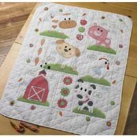 Bucilla® Farm Animals Crib Cover Stamped Cross-Stitch Kit