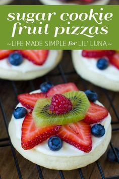 Sugar Cookie Fruit Pizzas recipe - YUM!