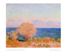 View of Bay at Antibes and the Marit Art Print at AllPosters.com