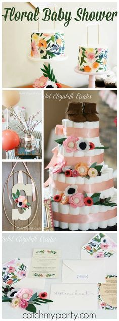 Loving this gorgeous floral baby girl shower! See more party ideas at http://CatchMyParty.com!