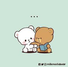Cute Couple Cartoon, Cute Cartoon Pictures, Cute Love Cartoons, Pink Wallpaper Girly, Cute Disney Wallpaper, Cute Cartoon Wallpapers, Cute Bear Drawings, Kawaii Drawings, Funny Girlfriend Memes