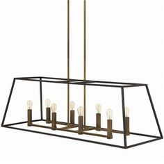 """8x60 watt candle base lamps max.  (15.75""""-60.75""""Hx48""""Wx18""""D)  Supplied with 2-6"""" and 6-12"""" stems.  10' of wire.  Canopy (4.75""""Wx9.5""""L)  OAH ..."""