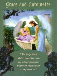 Grace and Antoinette - Psychic Tarot messages from your Angels. #Virtue #oracle #love