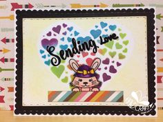Craftin Desert Divas' Peek A Boo Animal, Wishful Thoughts stamp sets with Heart Of Heart and Fancy Frame Dies