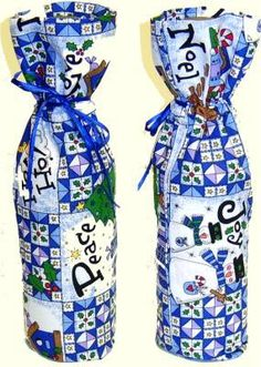 Bottle Bag Gift Wrapping that is Re-Usable: Materials & Cutting