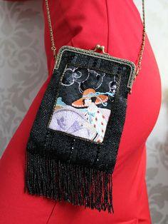 Diy Fashion, Fashion Bags, Fashion Outfits, Diy Purse, Embroidered Bag, Boho Bags, Beaded Bags, Fabric Bags, Vintage Purses