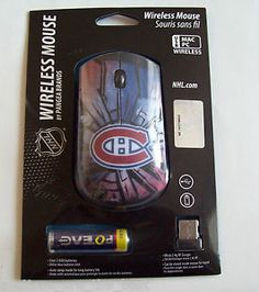 NHL Montreal Canadiens Habs Wireless Mouse for PC/MAC New in Box FREE SHIPPING
