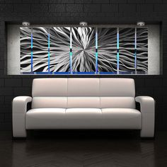 Modern Abstract Large Metal Wall Panels Art Sculpture by DV8Studio