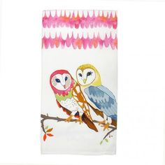 Owl Vignette Hand Towel from Curio Road, $17.00