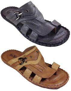 New Men Ring Toe Sandals Beach Comfort Causal Slip On Black Tan Jammy02 #Brixton #Slides