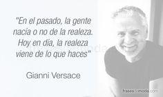 Frase de moda del diseñador Gianni Versace