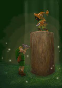 Legend of Zelda: Ocarina of Time Skull Kid fanart