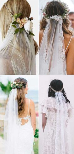 Top 20 Wedding Hairstyles with Veils and Accessories Bohe style wedding theme ve. - Top 20 Wedding Hairstyles with Veils and Accessories Bohe style wedding theme veil hairstyles accessories flower - Diy Wedding Veil, Boho Wedding Hair, Red Wedding Dresses, Wedding Hair Flowers, Hair Comb Wedding, Flowers In Hair, Wedding Day, Wedding Blog, Trendy Wedding