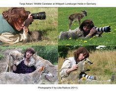 "Since 1990, Tanja Askani has been a Wildlife Caretaker at Wildpark Luneburger Heide, Lower Saxony, Germany. Askani has a special rapport with the animals; including the wolves -- most of whom she has raised since puppyhood. Images by Liba Radova, from her ""Tanja at Work"" series (© 2011). (www.tanja-askani.de)"