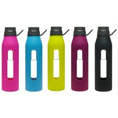 Classic Glass Water Bottles with Silicone Sleeve, 22oz by Takeya