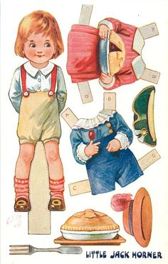 LITTLE JACK HORNER NURSERY Nursery Rhymes Dressing Dolls, SERIES 2.
