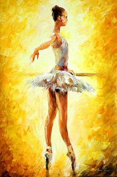 """In the ballet class"" by Leonid Afremov ___________________________ Click on the image to buy this painting ___________________________ #art #painting #afremov #wallart #walldecor #fineart #beautiful #homedecor #design"
