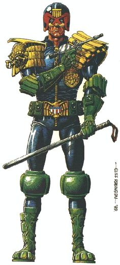 Judge Dredd by Cliff Robinson [ 2000 AD ]
