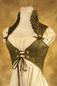lace-up vest with collar