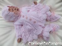 KNITTING PATTERN KSB 41***PATIENCE***INTRICATE LACY 4 PIECE MATINEE SET TO MAKE FOR YOUR BABY GIRL OR REBORN DOLL