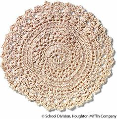 doily - this looks like the pattern i used to make a rug with...dang thing took like 6 months to make and is HUGE but very beautiful :)