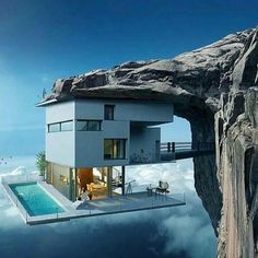 Modern house designs - Discover the unique design ideas of a modern home here. There are 21 examples of home design ideas created by professional architects Futuristic Architecture, Amazing Architecture, Interior Architecture, Architecture Antique, Fashion Architecture, Architecture Panel, Architecture Portfolio, Casas Containers, Cliff House
