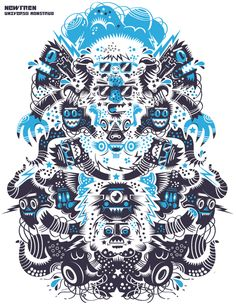 Universo Monstruo by Cristobal Ojeda, via Behance