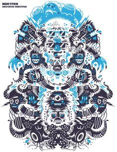 Universo Monstruo by Cristobal Ojeda, via Behance