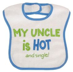 Nephew Uncle Baby Feeding Bibs Newborn-3yr Touch Fastener Acce Gift Boy Girl