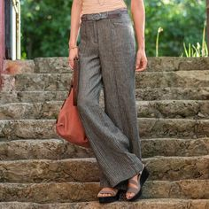 ANDOVER PANTS -- Such a flattering fit and classic lines with fashionable wide legs. Two front, two back pockets. Sizes 2 to inseam. Cargo Shorts Women, Pants For Women, Clothes For Women, Modest Pants, Made Clothing, Summer Chic, Spring Outfits, Spring Clothes, Get Dressed