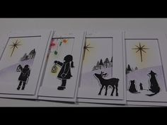 3D Christmas Cards with Card-io Stamps - YouTube