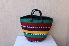 SALE African Market basket, Woven sisal basket, Tribal basket, Toy storage basket, Planter basket, Picnic basket, Laundry basket, Her gif #AfricanBasket #PicnicBasket #BeachBag #ToyStorage #GiftForHer #MarketBasket #ShoppingBasket #WovenBasket #SisalWovenBasket #ChristmasGift Toy Storage Baskets, African Market, Picnic Bag, Market Baskets, Leather Weaving, Basket Decoration, Sisal, Leather Handle, Laundry Basket