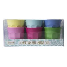 RICE Melamine Party Cups 6 pack