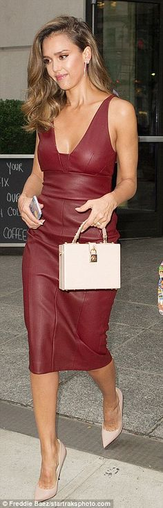 Accessorize like a lady with Jessica's box-bag by Dolce & Gabbana #DailyMail  Click 'Visit' to buy now