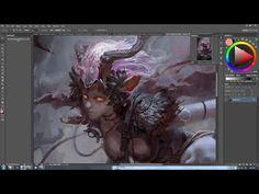 China Digital painting - Artist Li Xiaofeng - Part 1-3 - YouTube
