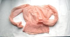 Hey, I found this really awesome Etsy listing at https://www.etsy.com/listing/233303310/vintage-silk-organza-blouse-peach-sheer