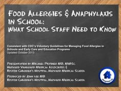 Staff Training: Food Allergies & Anaphylaxis in School – What School Staff Need to Know