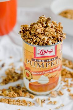 Homemade Pumpkin Granola from the Wannabe Chef. vegan. Make sure to use GF certified oats if making it Gluten Free