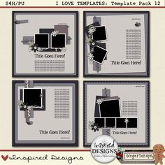 I LOVE TEMPLATES: Template Pack 12