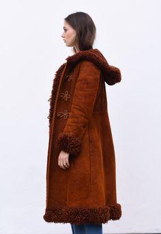 Vintage Afghan Hooded Sheepskin Coat   Dotty Theresa Vintage   ASOS Marketplace